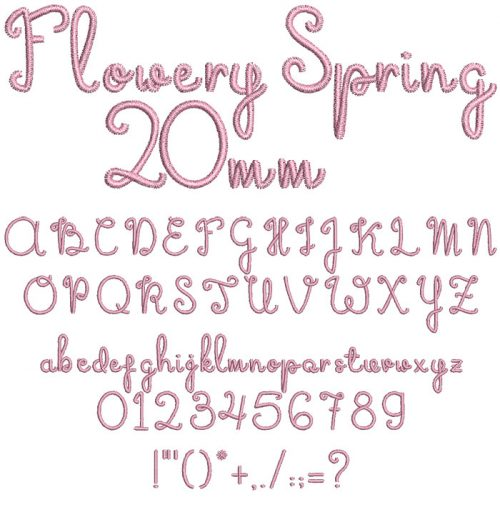 Flowery Spring 20mm Font