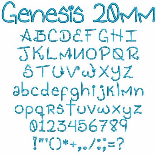Genesis 20mm Font