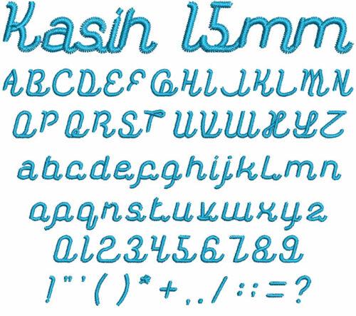 Kasih 15mm Font