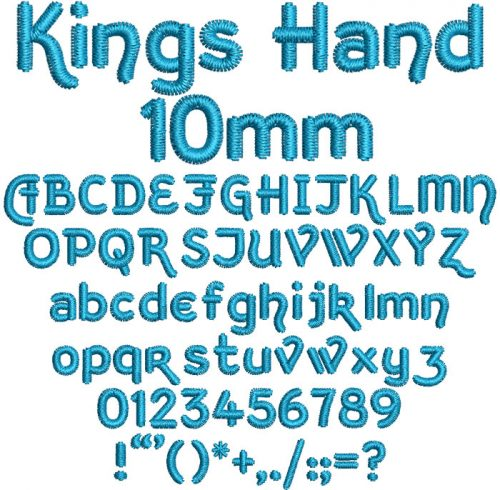 Kings Hand 10mm Font