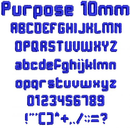 Purpose 10mm Font