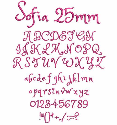 Sofia 25mm Font