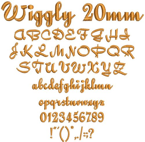 Wiggly 20mm Font