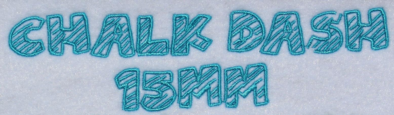 Chalk Dash esa font sew out