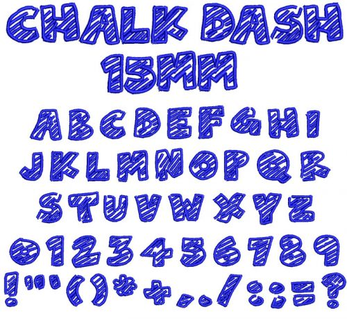 Chalk Dash 15mm Font