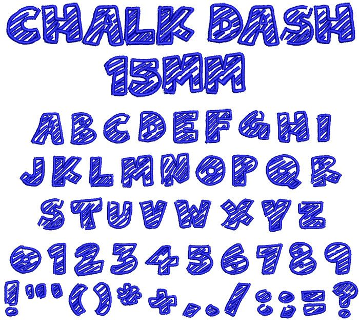 Chalk Dash 15mm Font