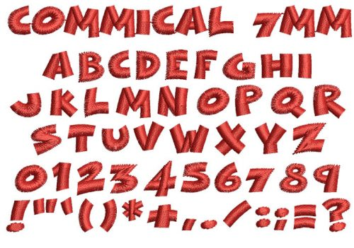 Commical 7mm Font