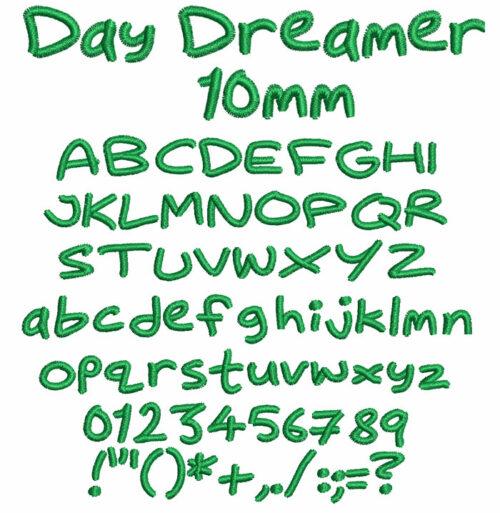 Day Dreamer 10mm Font