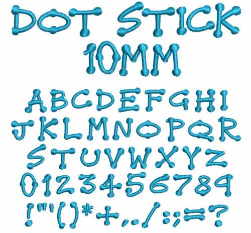 Dot Stick 10mm Font