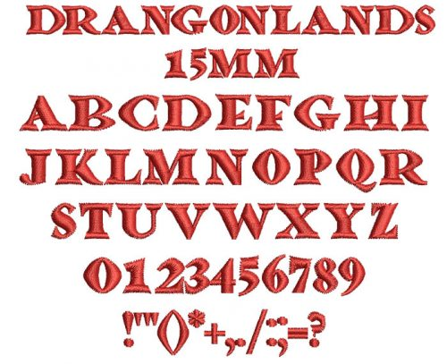 Dragonlands 15mm Font