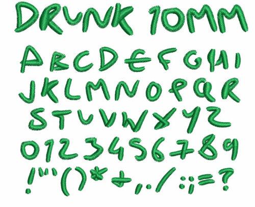 Drunk 10mm Font