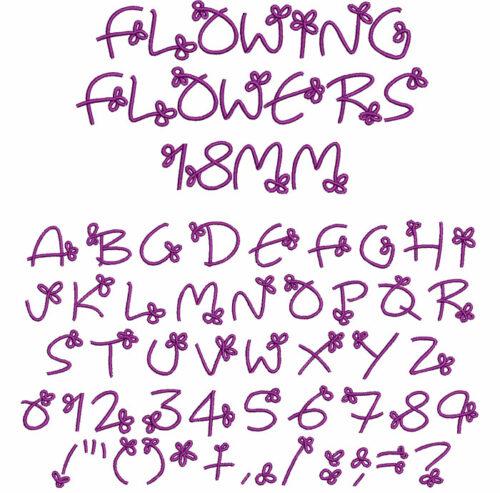 Flowing Flowers 18mm Font