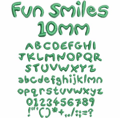 Fun Smiles 10mm Font