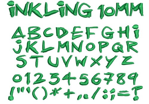 Inkling 10mm Font