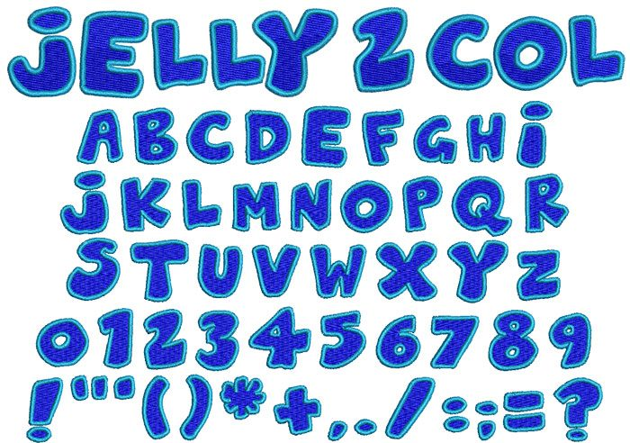 Jelly 2 Color 16mm Font