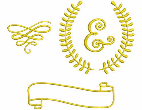 Floral Laurel elements icon