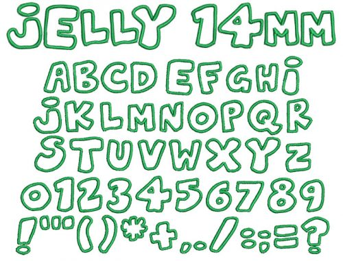 Jelly 14mm Font