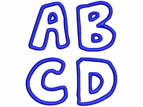 Jelly Applique esa font letters icon