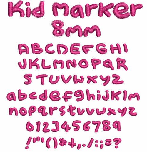 Kid Marker 8mm Font