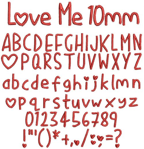 Love Me 10mm Font