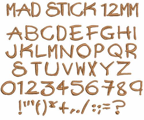 Mad Stick 12mm Font