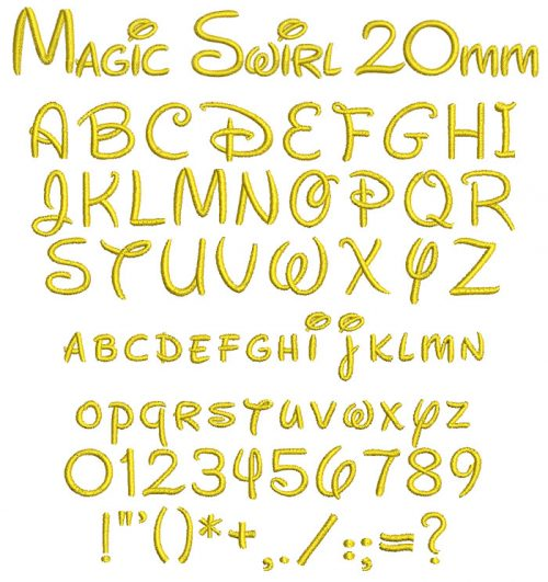 Magic Swirl 20mm Font