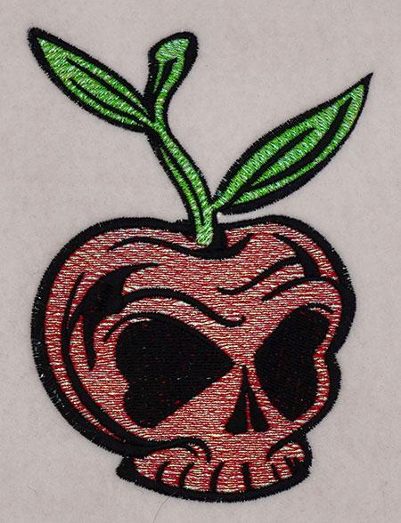 mylar cherry skull