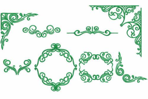 Decorative swirls elements icon