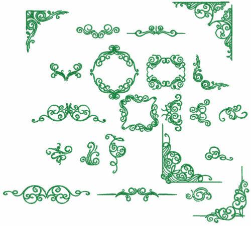 Decorative Swirls ESA Elements