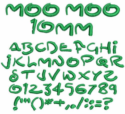 Moo Moo 10mm Font
