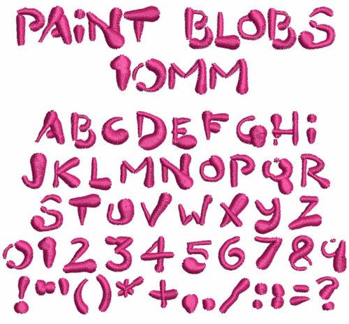 Paint Blobs 10mm Font