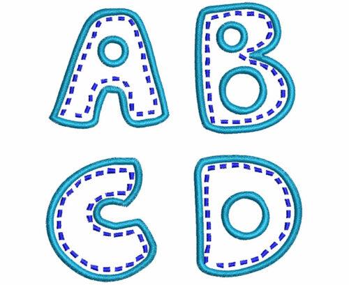 Patchwork esa font letters icon
