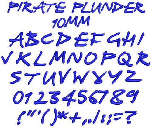 Pirate Plunder 10mm Font