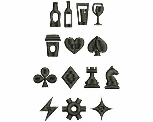 Hip symbols elements icon