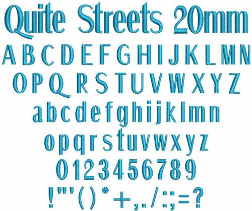 Quite Streets 20mm Font