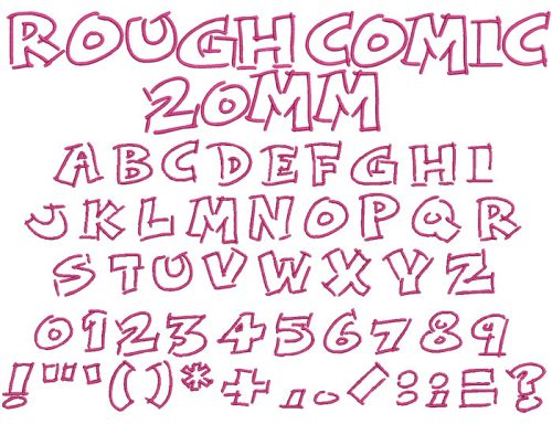 Rough Comic 20mm Font