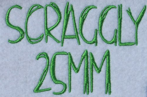 Scraggly esa font sew out