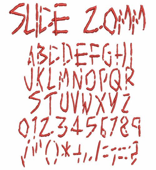 Slice 20mm Font