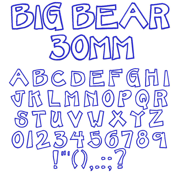 Big Bear 30mm Font