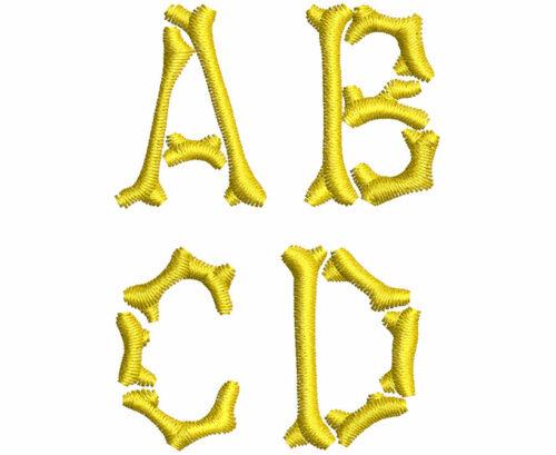 Bones esa font letters icon