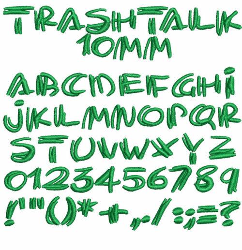 Trashtalk 10mm Font