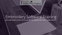 Embroidery Software Training