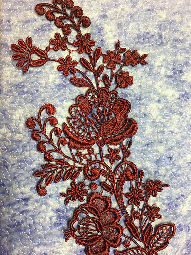 Freestanding Lace Sew Out