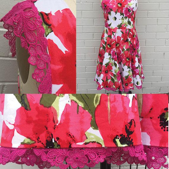 Freestanding lace on dress