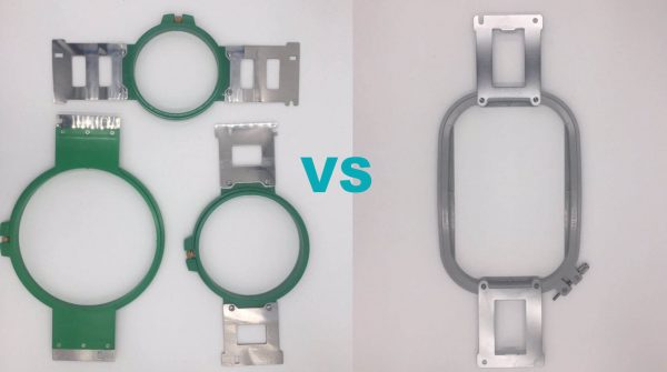 Commercial vs Home Machine Embroidery Hoops