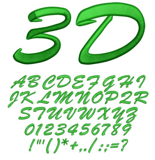 3d Brush Script Font