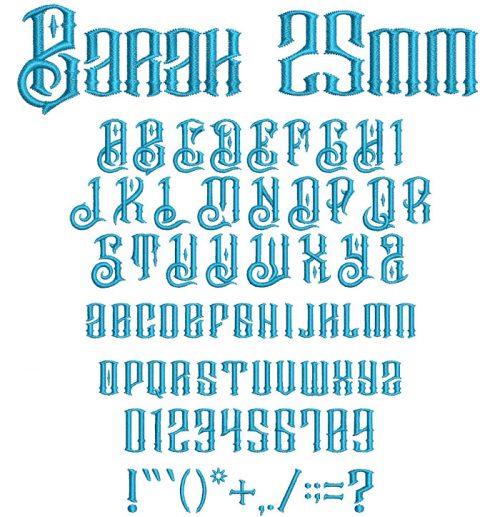 Barak 25mm Font