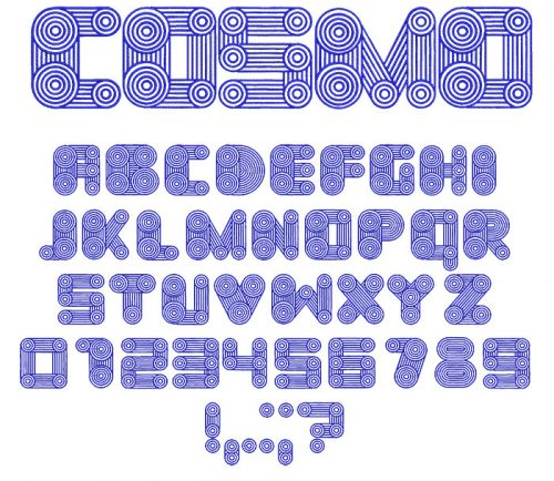 Cosmo 50mm Font