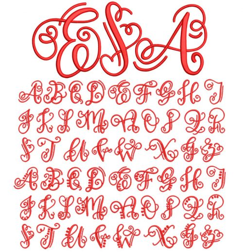 Crafty Monogram 50mm Font