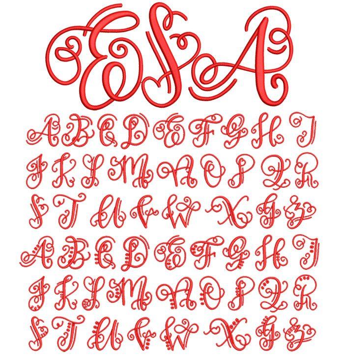 Crafty Monogram 50mm Font